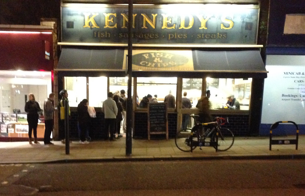 The queue outside Kennedy's on a Friday night.