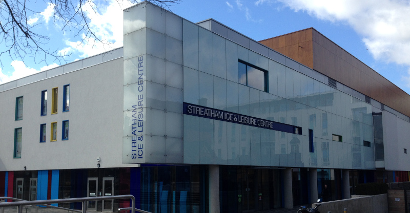 Streatham Ice and Leisure Centre entrance