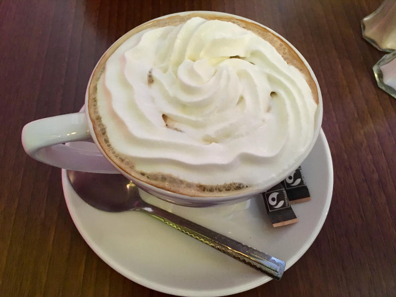 Hot Chocolate with Whipped Cream from El Chico's in Streatham