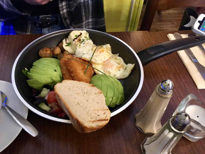 Veggie breakfast from El Chico's Streatham Hill