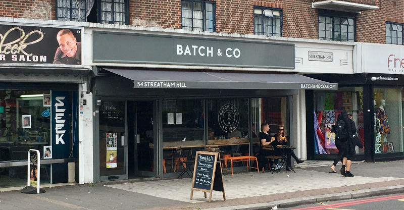 Shop front of Batch & Co in Streatham Hill