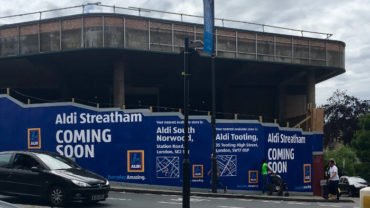 The building that will soon become Aldi on Streatham High Road