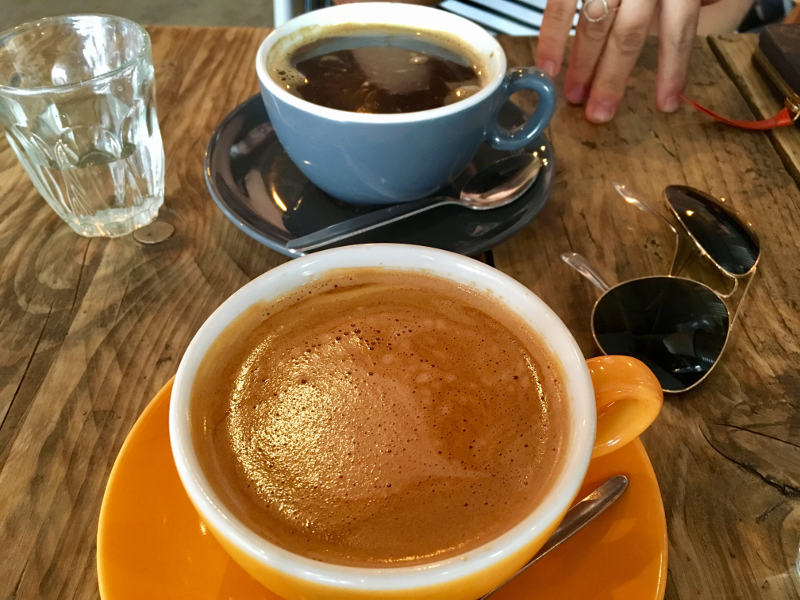 A Mocaccino and Americano from Batch & Co in Streatham Hill