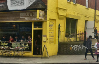 The shop front for 'Brickwood Coffee & Bread' in Streatham
